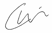 Chris Sweeney Signature